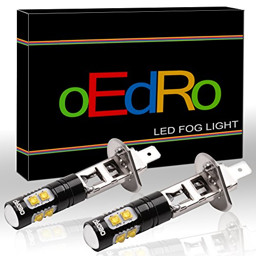 oEdRo Super Bright H1 LED Bulb High Power 50W 10 smd Seoul Chipset 6000k White for Fog Light DRL (Pack of 2) (H1 Led Headlight Bulbs 50w compare prices)