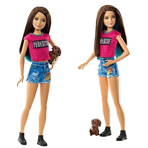 Barbie-Familie-Puppe-Skipper-mit-Hund-Die-groe-Hundesuche