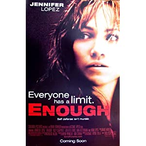 Jennifer Lopez on Amazon Com  Enough Jennifer Lopez Movie Poster 24 X36   Everything