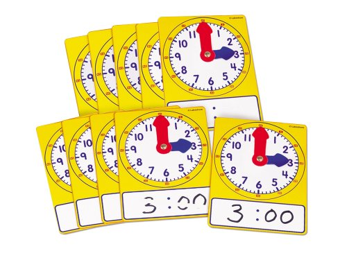 Write & Wipe Student Clocks - Set of 10