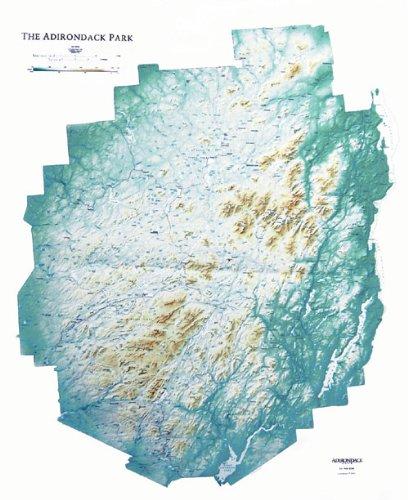Hubbard Scientific Raised Relief Map 442 Adirondack map