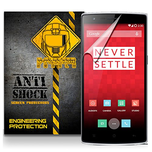 D-Flectorshield Oneplus One Anti-Shock/Military Grade/ Tpu /Premium Screen Protector / Self Healing / Oleophobic Material / Ez Install / Ultra High Definition / Scratch Proof / Bubble Free Install / Precise Laser Cuts front-465092