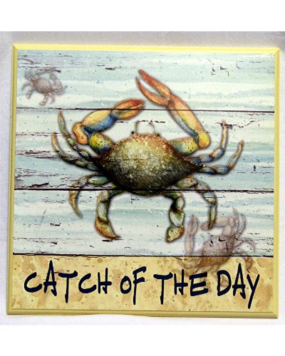 Catch of the Day - Wood Plaque Features a Crab - 13