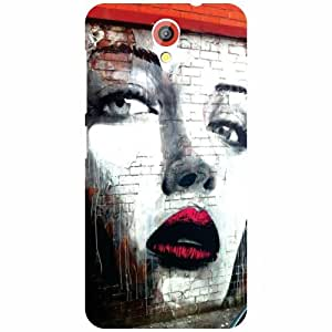 HTC Desire 620G Back Cover - Red Lips Designer Cases