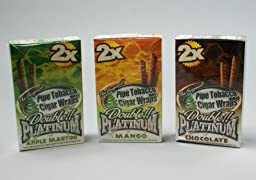 Cigar Wraps Platnum Cigar Warps 5gvu012e13y avnndjjstuwiioq of8304v2 ddkhvvuemorostod balustokristo ddaaszer bluumerkto b Platnum Cigar Warps / Blunts, 25 pk, 2pcs per pack, comes with different flavor such chocolate, apple martini, 13oh6gee mango, p