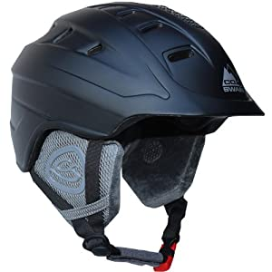 Cox Swain Ski-/Snowboard Helmet ROYAL with Recco - With Recco avalanche Reflector, Colour: Black, Size: S