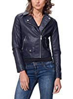 OSLEY PARIS Chaqueta Biker With Pocket Detail (Azul Marino)