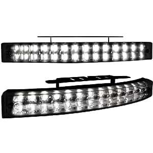 Dectane LGX05B Tagfahrlicht mit 28 LED LxHxT 200x24x42mm (2 Stück)_black