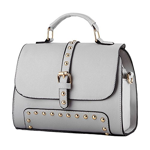 koson-man-stile-vintage-da-donna-con-fibbia-e-tracolla-maniglia-superiore-borsa-tote-bags-grigio-gri