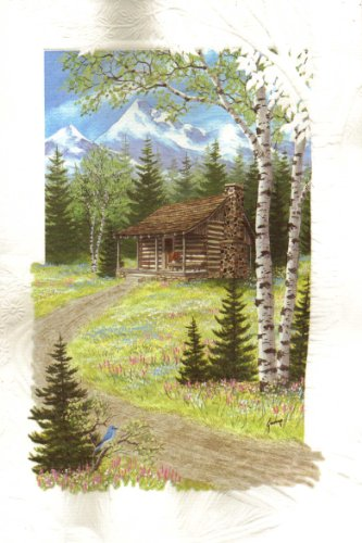 Mountain Retreat Retirement Card