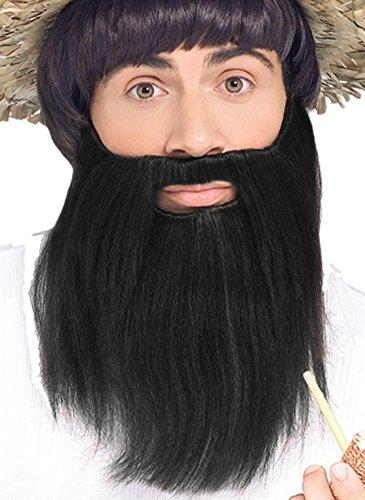 Forum Novelties Men's Novelty Handmade Full Beard, Black, One Size