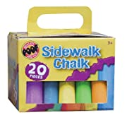 POOF-Slinky - Colored Sidewalk Drawing Chalk Pack with Portable Storage Case and Handle, 20-Piece Set, 0C8907BL