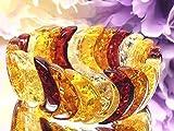 希少 アンバー 琥珀 バングル 金運 原動力 免疫力アップ 品番2