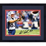 Framed Wes Welker New England Patriots Autographed 8'' x 10'' Horizontal Catching Ball... by