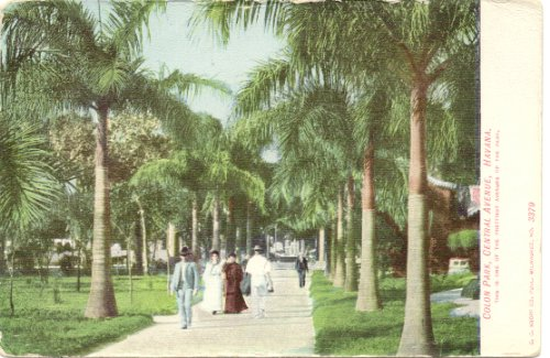 1900 Vintage Postcard Colon Park and Central