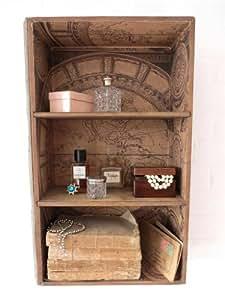 Vintage Style Wood Wall Shelf Cabinet