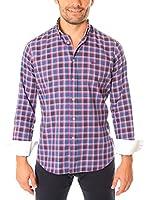 VICKERS Camisa Hombre Harvard (Azul / Tinta)