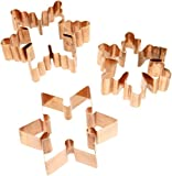 Old River Road Petite Snowflake Cookie Cutter Set, Copper, Set of 3