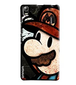 Omnam Mario Closeup Printed Designer Back Cover Case For Lenovo K3 Note