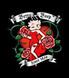 Queen Size ~ Betty Boop Blanket Luxury Plush Throw ~ Hearts & Roses