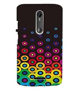 Printvisa Multicoloured Circular Pattern Back Case Cover for Motorola Moto X3::Motorola Moto X (3rd Gen)