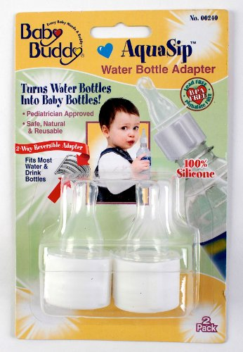Baby Buddy 00240 AquaSip Water Bottle Adapter, 2 Count