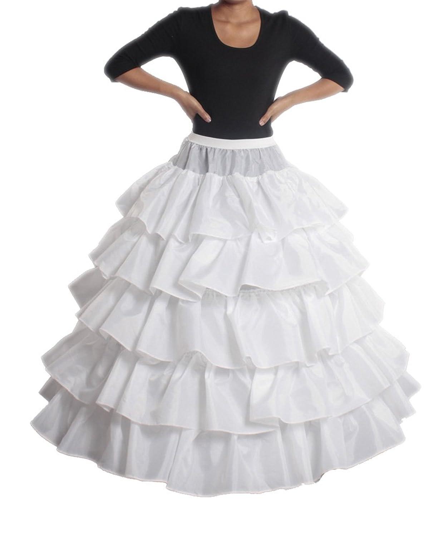 XYX Frauen-Hochzeits PetticoatUnderskirt Schlupf Krinoline 4 BAND WEISS XS-M bestellen
