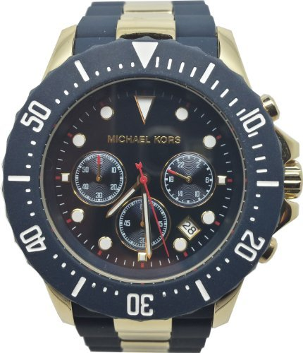 5aa971950d8c Compare   Michael Kors Men s MK5812 Navy Blue with Golden Stainless Steel  Everest Chronograph Watch !