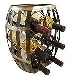 TheopWine Barrel Shaped 6 Bottle Wine Rack