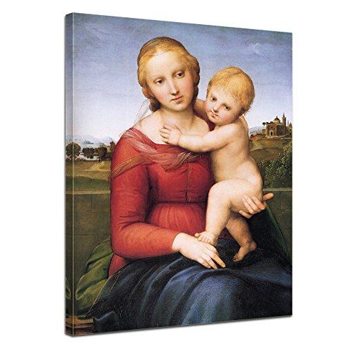 """Bilderdepot24 Leinwandbild Raffael - Alte Meister """"Madonna mit Kind"""" 50x70cm - fertig gerahmt, direkt vom Hersteller"""