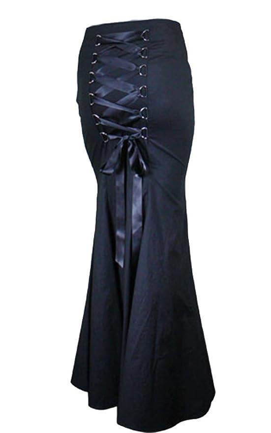 Chic Star Gothic Long Black Fishtail Skirt $54.99 AT vintagedancer.com