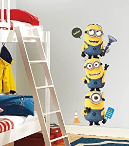 RoomMates RMK2081GM Despicable Me 2 Minions Giant Peel and Stick Giant Wall Decals by RoomMates