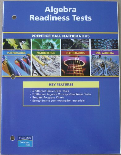 Algebra Readiness Tests (Mathematics, Courses 1-3)