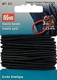 Corde élastique 2.5 mm noir