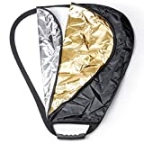 Neewer 24 inches / 60 Centimeters 5 in 1 Collapsible Triangle Multi Camera Lighting Reflector Diffuser Kit with Grip and Carrying Case for Photography