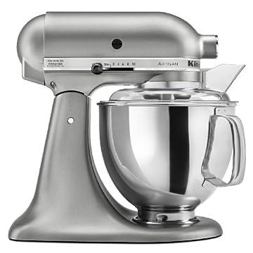KitchenAid KSM150PSCU Artisan 5-Quart Stand Mixer (Contour Silver)