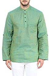 Indus Route by Pantaloons Men's Cotton Kurta 205000005638475_ Size_Small