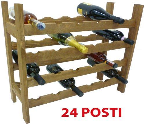 Mobile porta bottiglie cantinetta vino in legno noce - Mobile porta vino ...