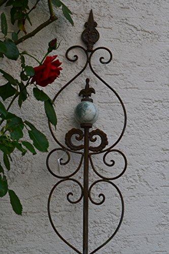 Gartenstecker dekorativer pflanzstab metall mit for Gartenskulpturen rost