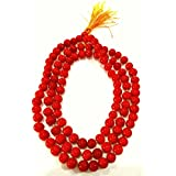 Divya Shakti Natural Coral Rosary Red Coral Rosary Moonga Mala 108+1 Beads ( 7 Mm )