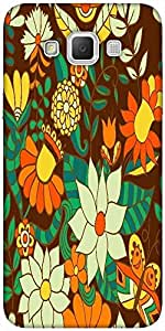Snoogg Abstract Floral Background Designer Protective Back Case Cover For Sam...