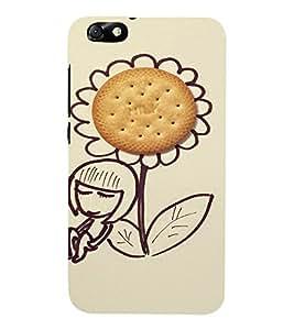 EPICCASE Biscuit on flower Mobile Back Case Cover For Huawei Honor 4X (Designer Case)