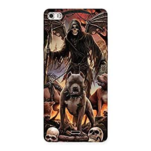 Sin Ghost Back Case Cover for Micromax Canvas Silver 5