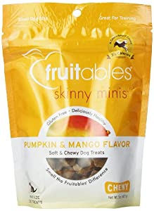 Fruitables Pumpkin & Mango Skinny Mini Dog Treats 5-Ounce