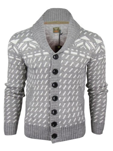Le Breve Mens 'Dismol' Aztec Pattern Shawl Neck Jumper/ Cardigan