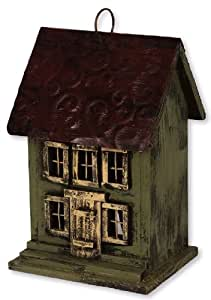 Carson Home Accents Window Roof Birdhouse, 9.6-Inch, Red (Discontinued by Manufacturer)