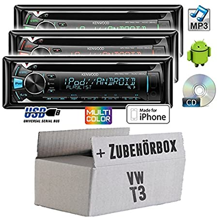 VW t3 bus kenwood-kDC - 364U-cD/mP3/uSB avec kit de montage