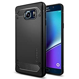 Galaxy Note 5 Case, Spigen [Rugged Armor] Resilient [Black] Ultimate protection and rugged design with matte finish for Galaxy Note 5 (2015) - Black (SGP11683)