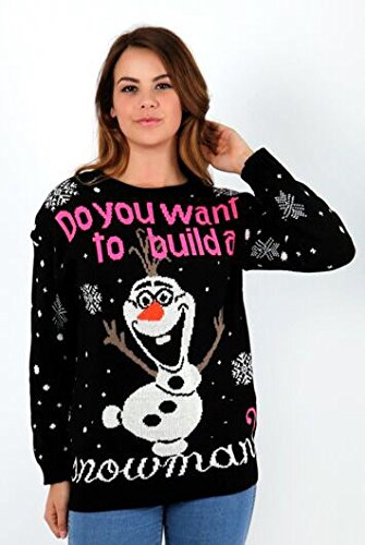 CHILDREN-KIDS-UNISEX-BOY-GIRL-women-ladies-OLAF-FROZEN-MINION-CHRISTMAS-XMAS-JUMPER-SWEATER-PLUS-SIZE