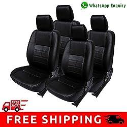Autofact Brand (Economical Range) PU Leatherite Car Seat Covers for Maruti Car 800 Old Model in Full Black